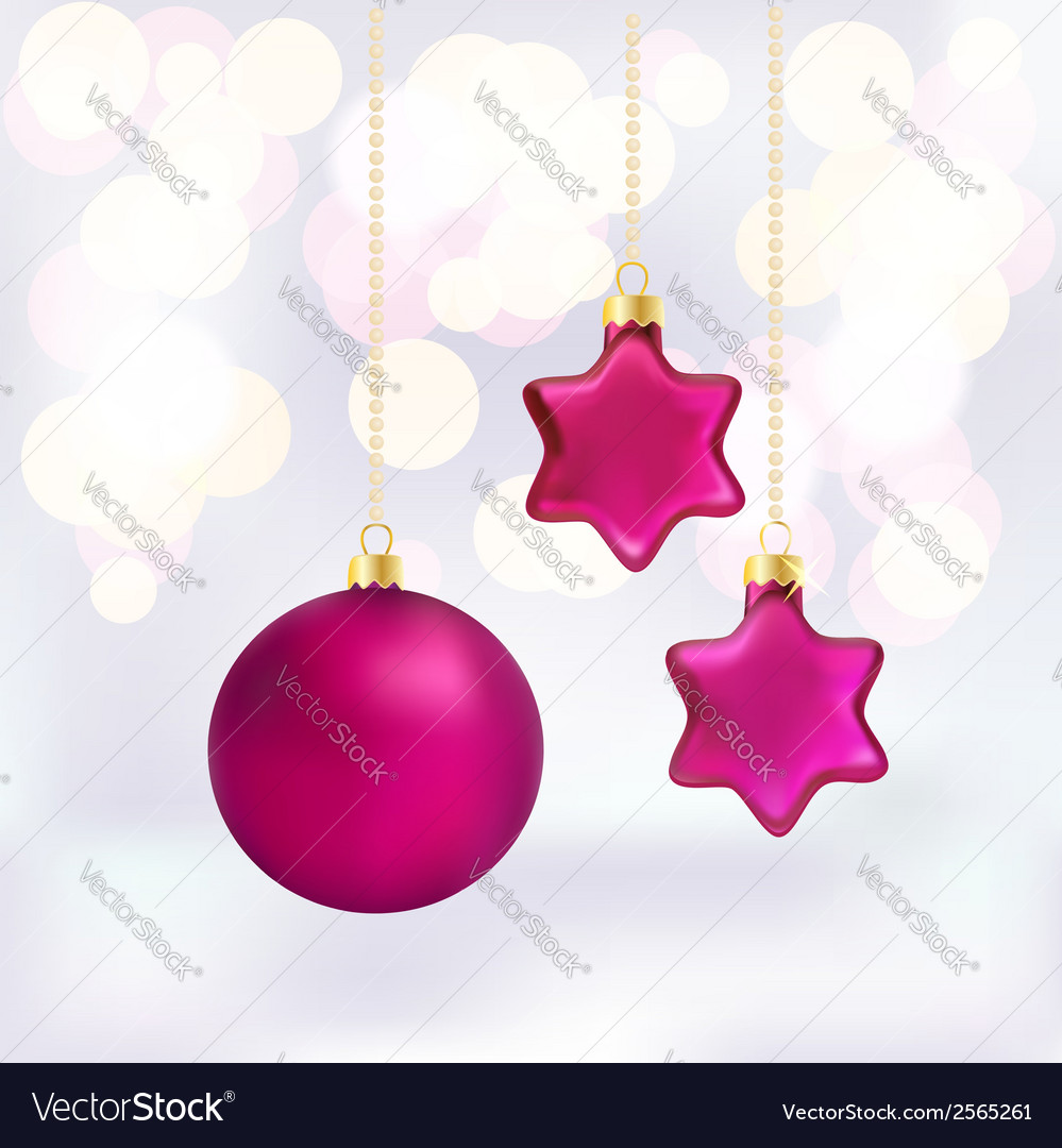 Christmas baubles on abstract background vector | Price: 1 Credit (USD $1)