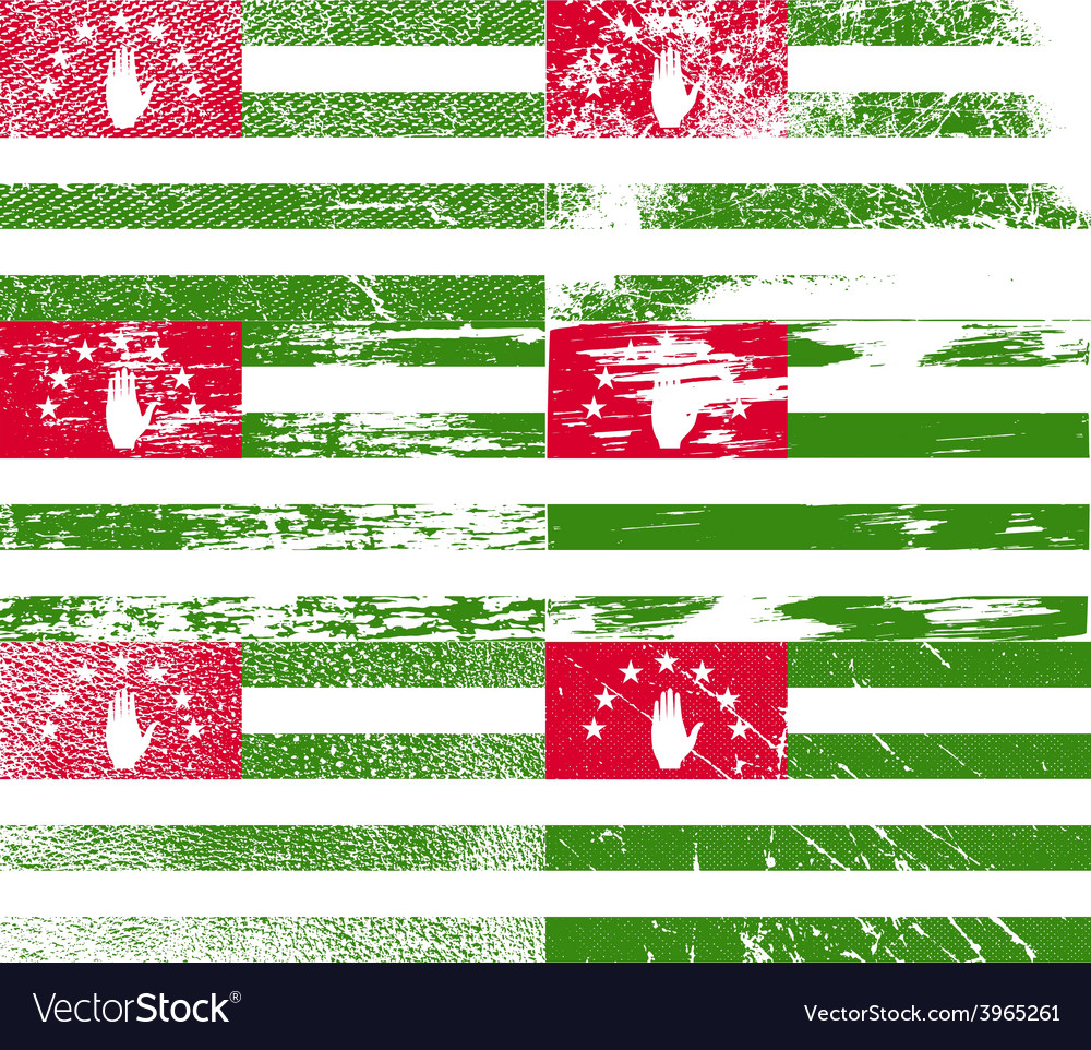 Flag of abkhazia with old texture vector   Price: 1 Credit (USD $1)