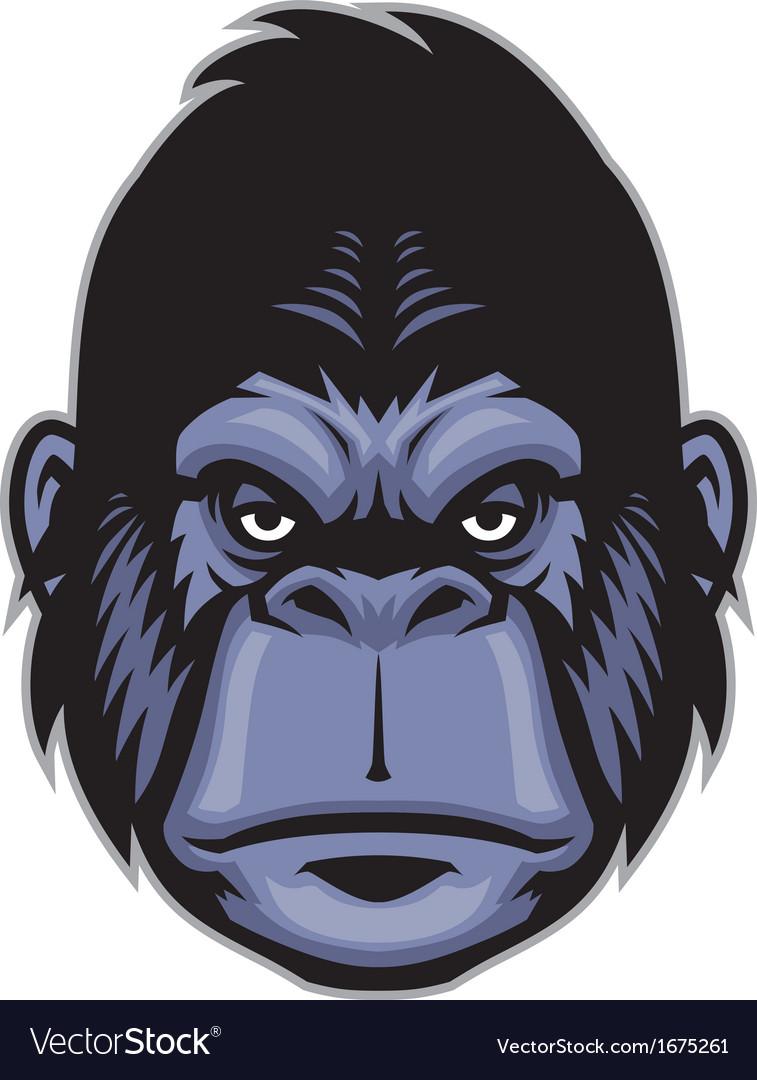 Gorilla head mascot vector | Price: 1 Credit (USD $1)