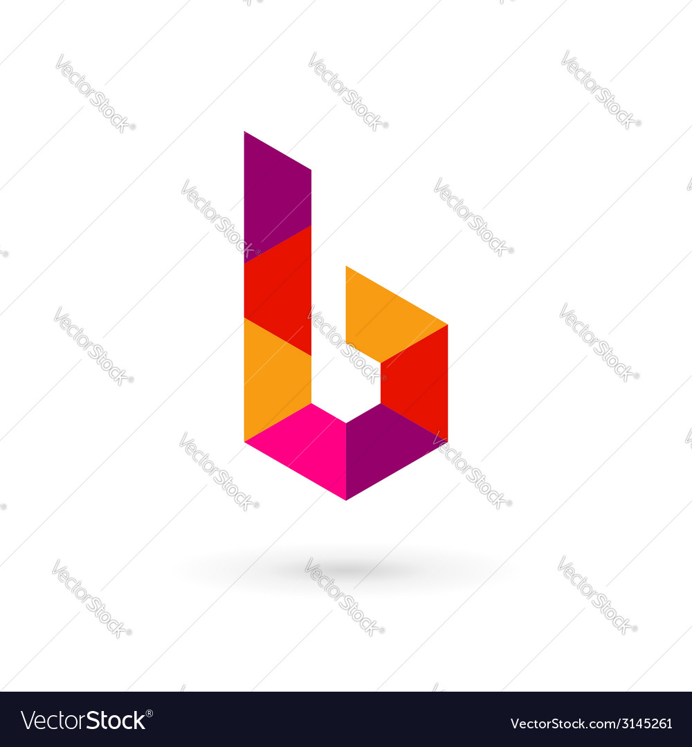 Letter b mosaic logo icon design template elements vector | Price: 1 Credit (USD $1)