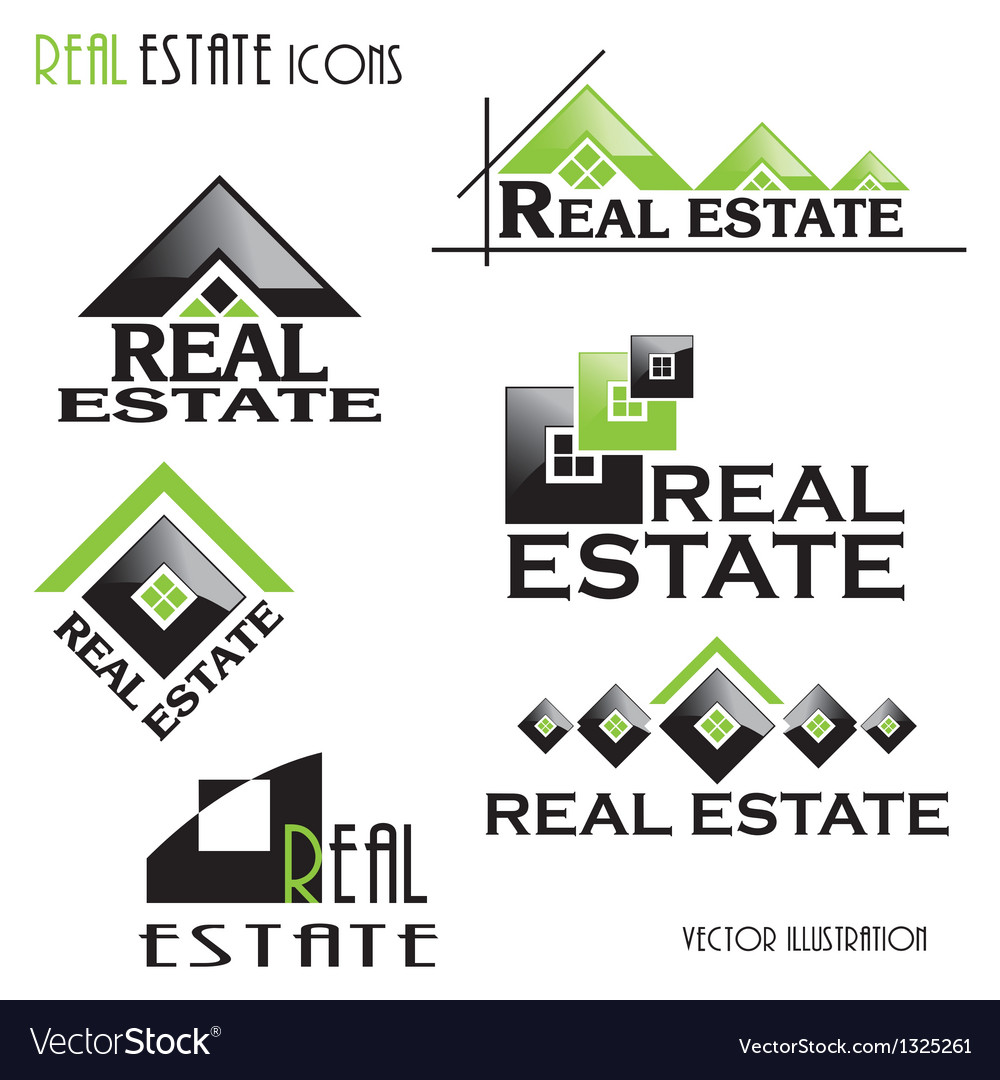 Modern real estate icons vector | Price: 1 Credit (USD $1)