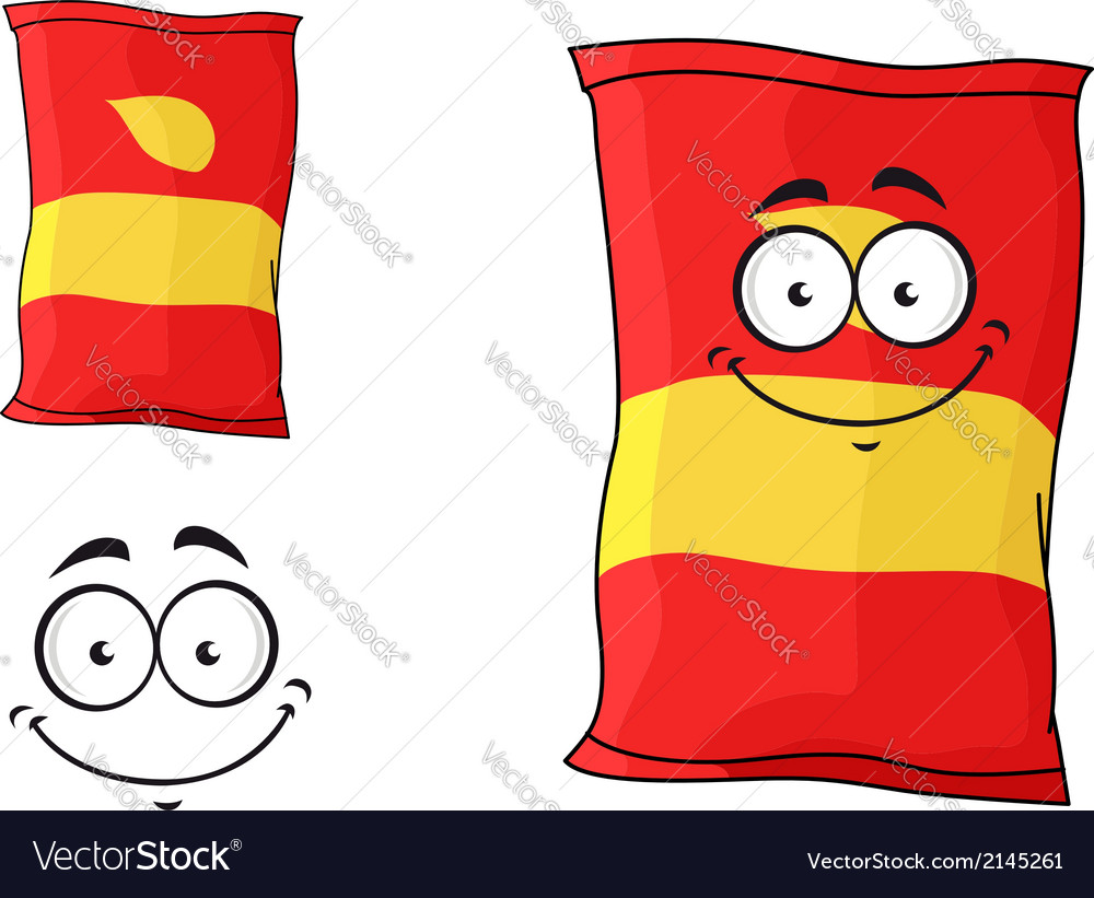 Packet of chips or crisps vector | Price: 1 Credit (USD $1)