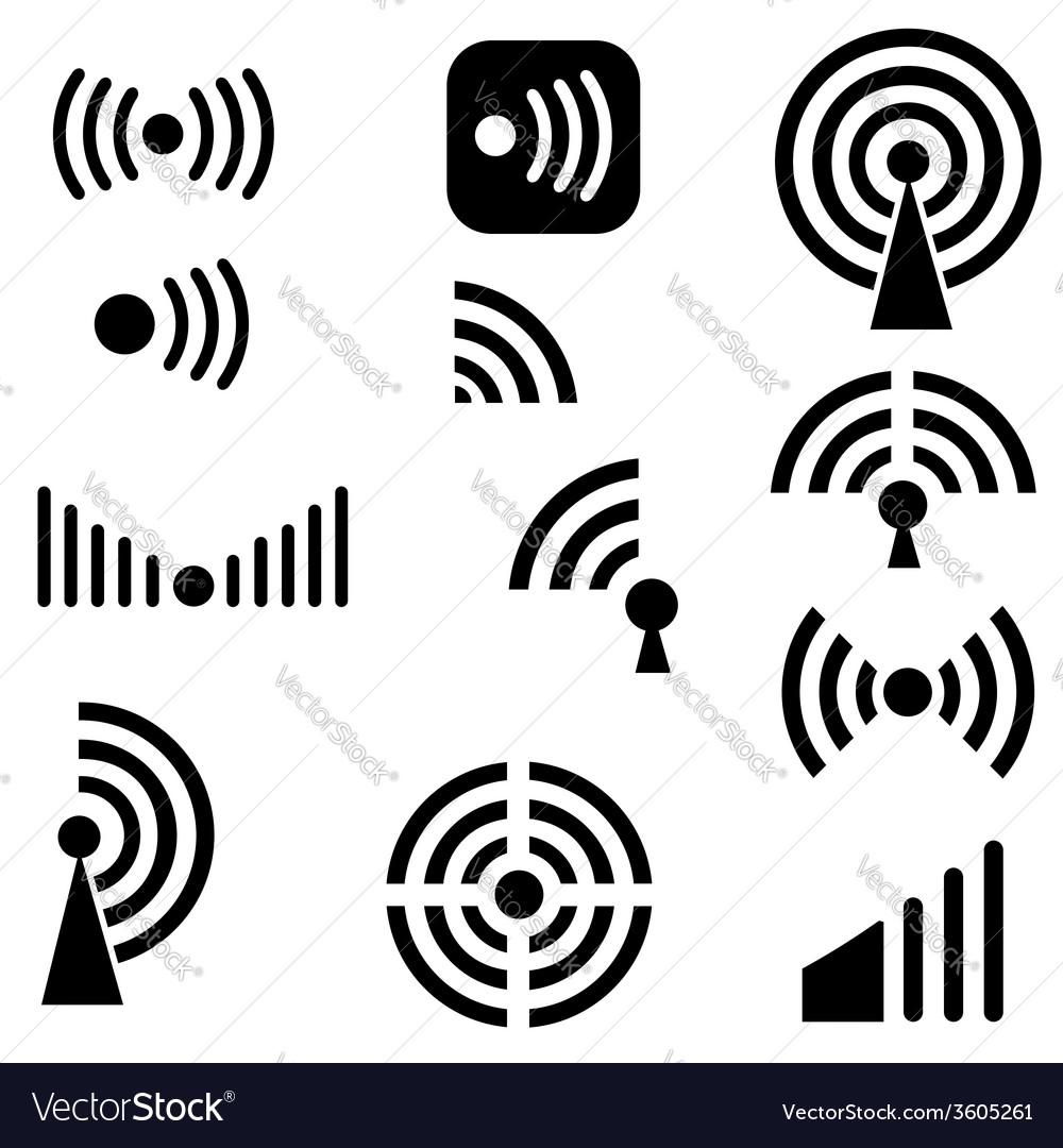 Radio waves vector | Price: 1 Credit (USD $1)