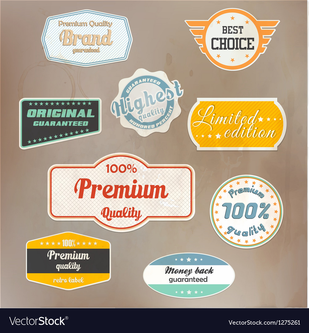 Retro label colection vector | Price: 3 Credit (USD $3)
