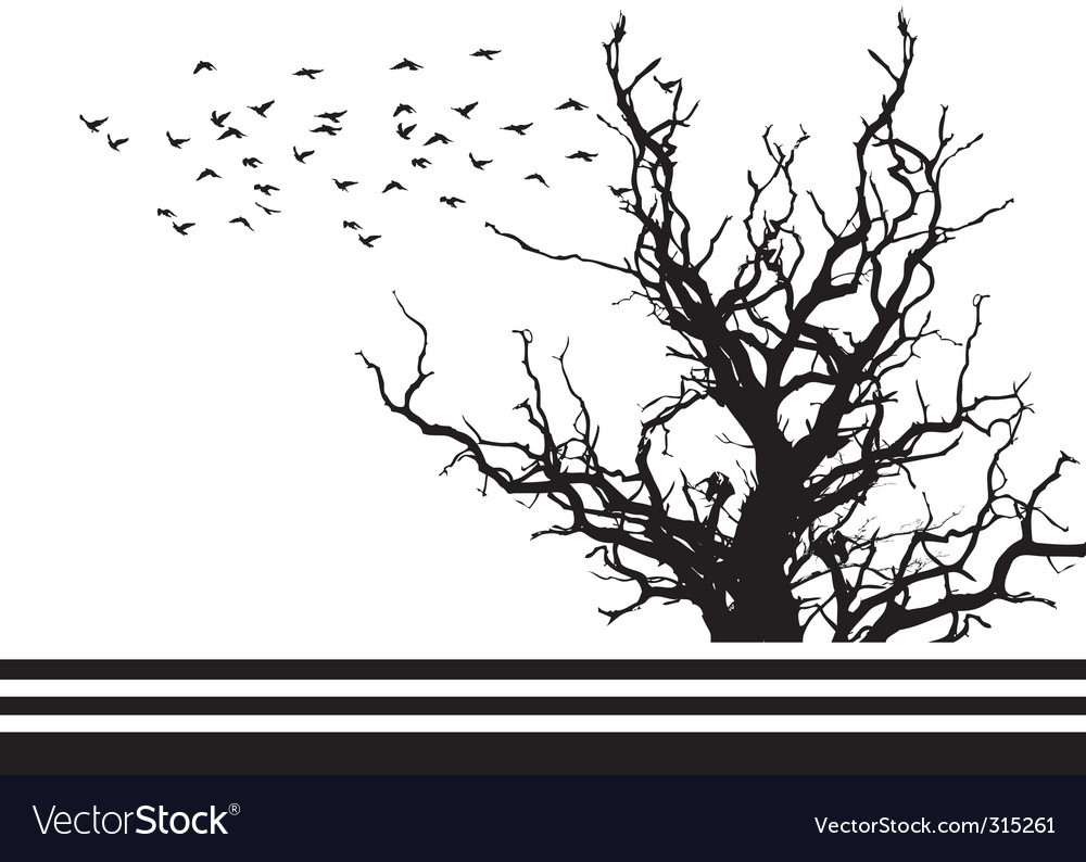 Silhouette tree vector | Price: 1 Credit (USD $1)