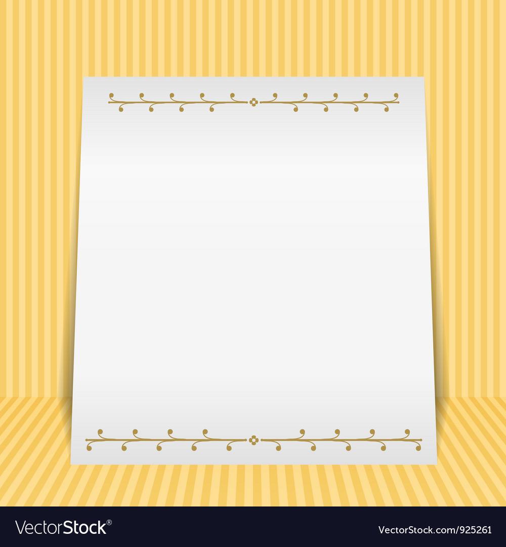 Vintage paper banner vector   Price: 1 Credit (USD $1)