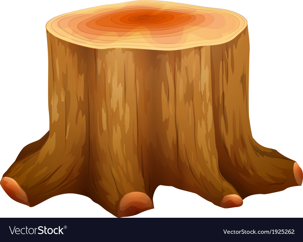 A stump of a big tree vector | Price: 1 Credit (USD $1)