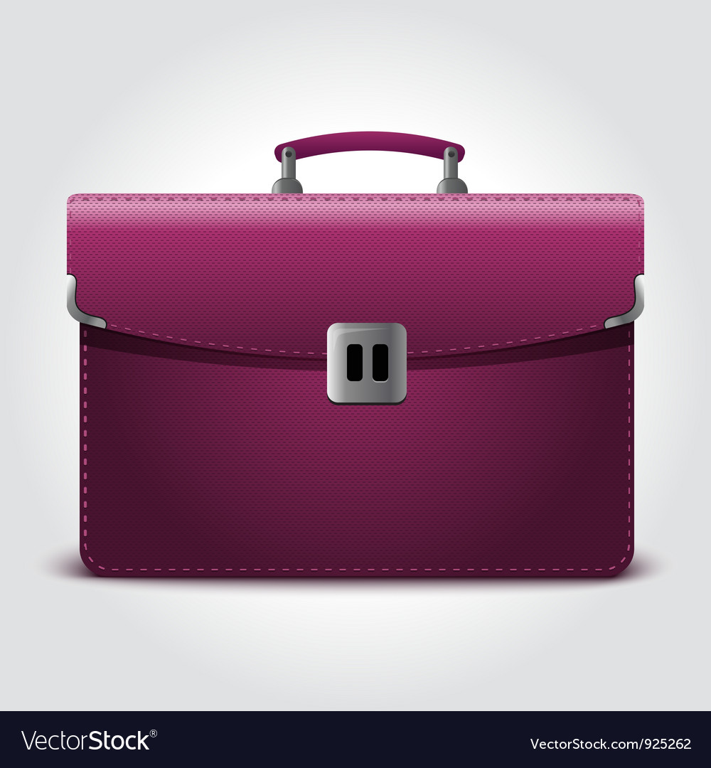 Business briefcase isolated on blue background vector | Price: 1 Credit (USD $1)