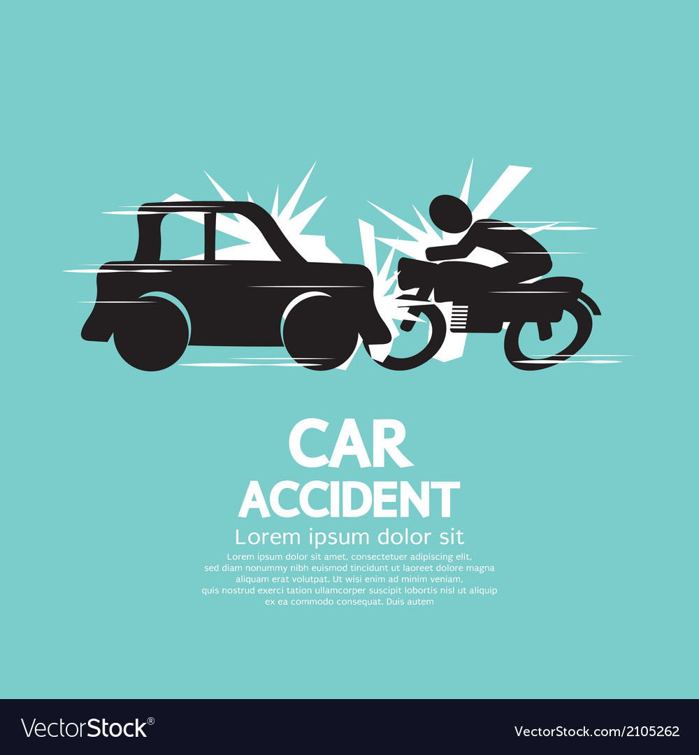 Car crash with motorcycle vector | Price: 1 Credit (USD $1)