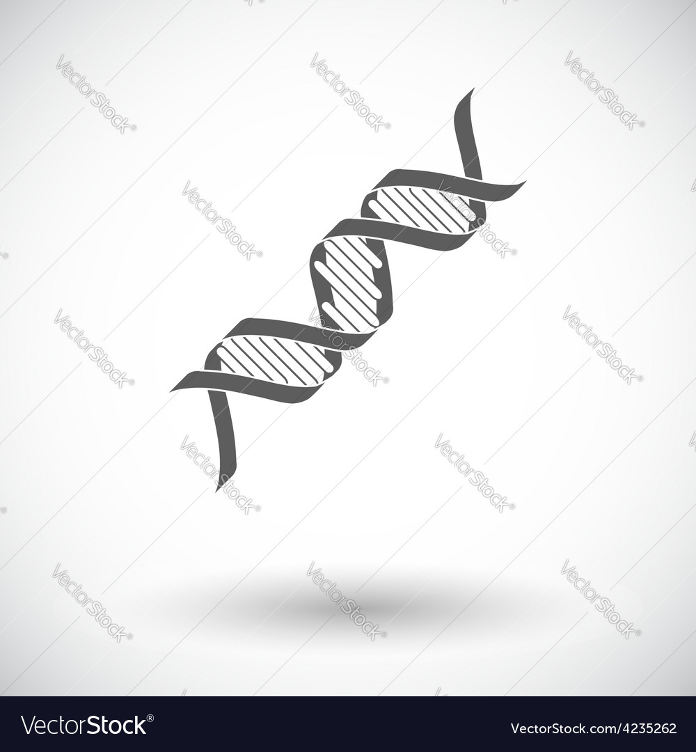 Dna icon vector | Price: 1 Credit (USD $1)