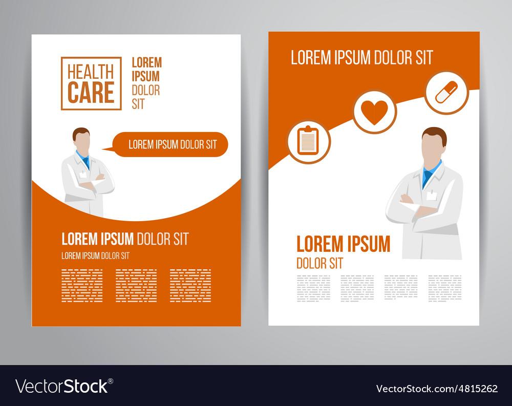 Healthcare brochure vector | Price: 1 Credit (USD $1)