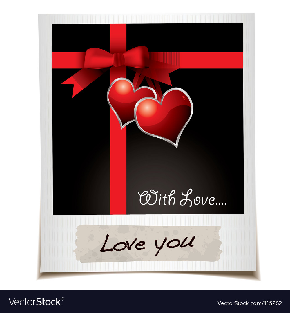 Love ribbon photo vector | Price: 1 Credit (USD $1)