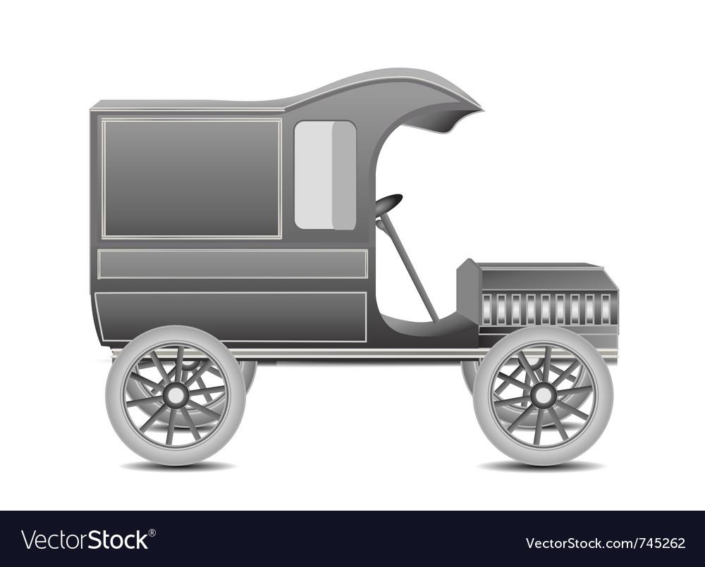 Old retro car vector | Price: 3 Credit (USD $3)