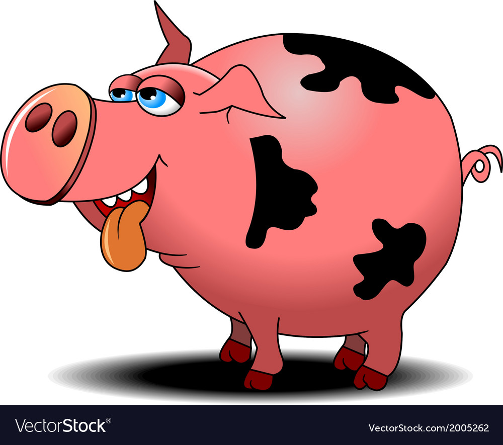 Pig cartoon vector | Price: 1 Credit (USD $1)