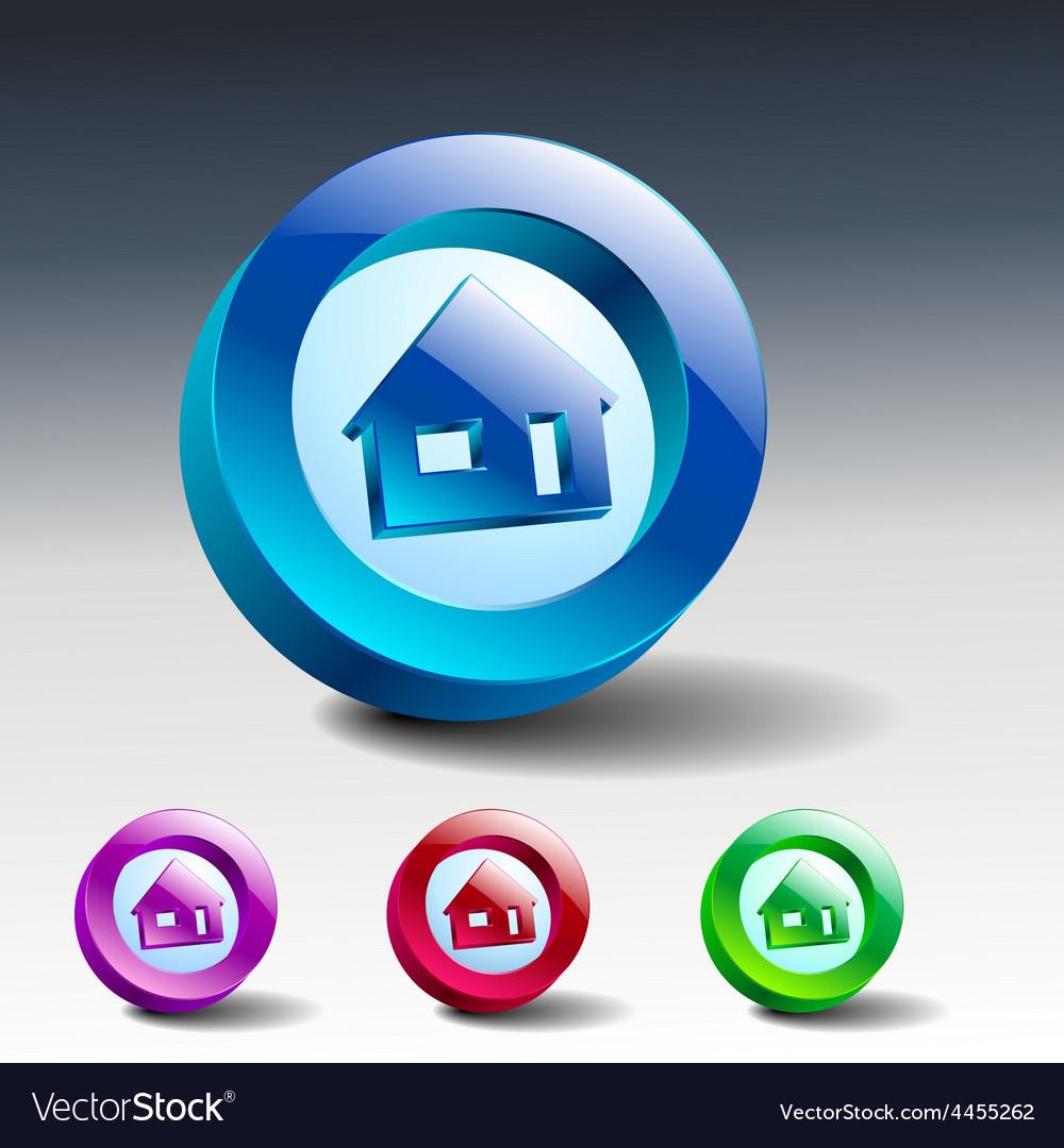 Real estate concept small house - icon vector | Price: 1 Credit (USD $1)
