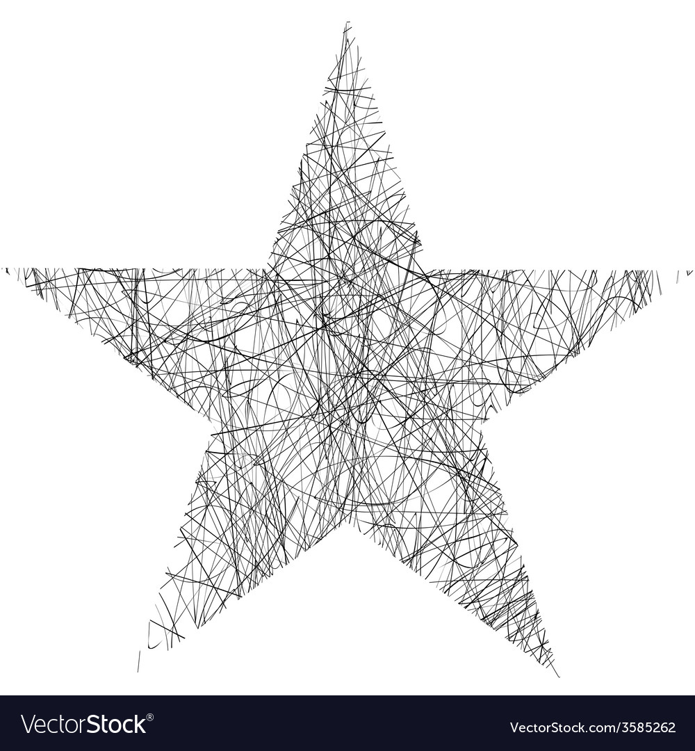 Star scribble vector | Price: 1 Credit (USD $1)