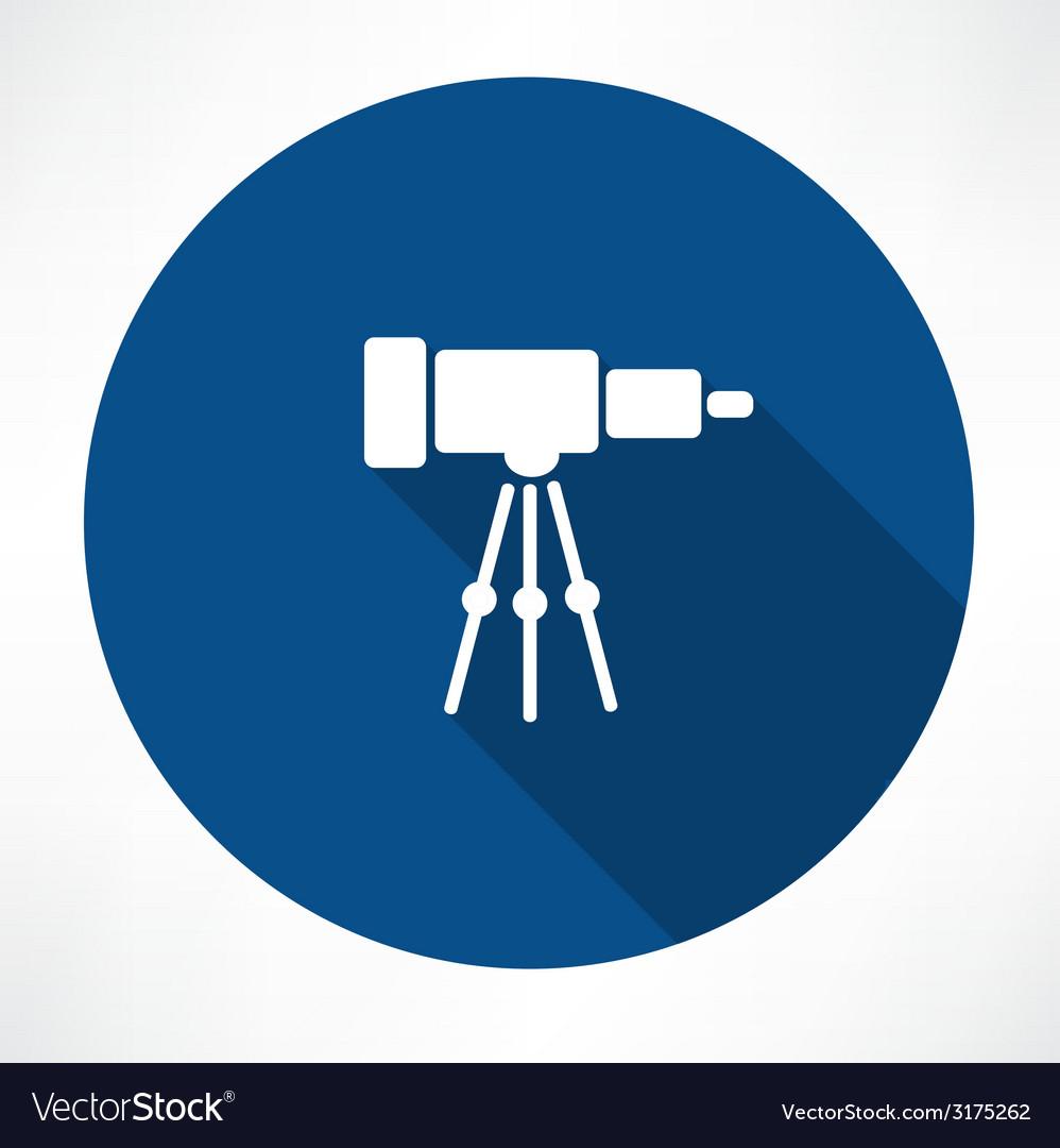 Telescope icon vector | Price: 1 Credit (USD $1)