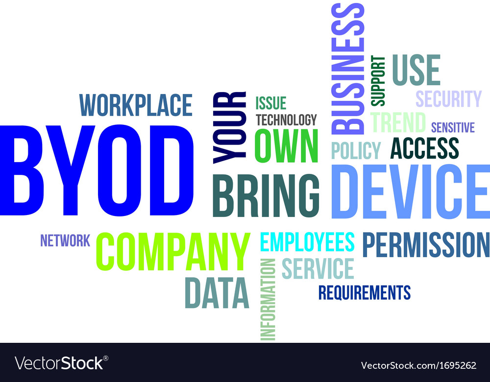 Word cloud byod vector | Price: 1 Credit (USD $1)