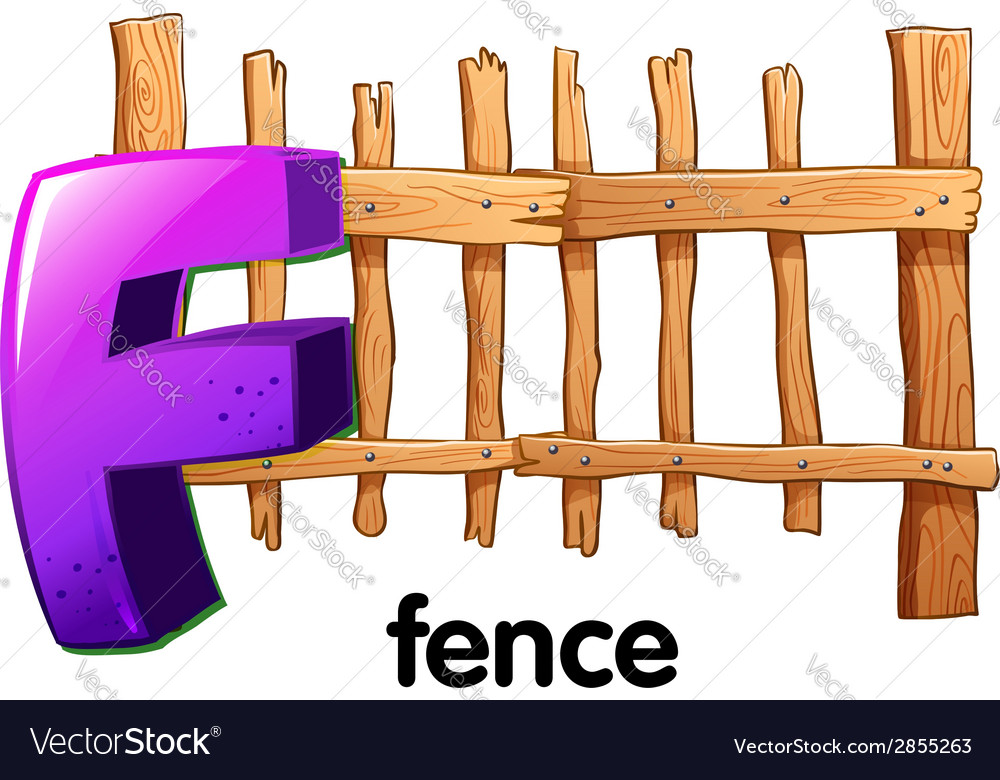A letter f with a fence vector | Price: 1 Credit (USD $1)