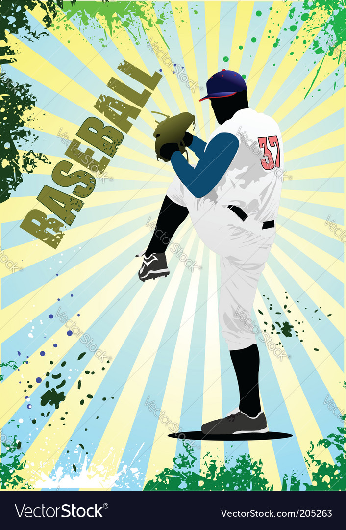 Baseball poster vector | Price: 1 Credit (USD $1)