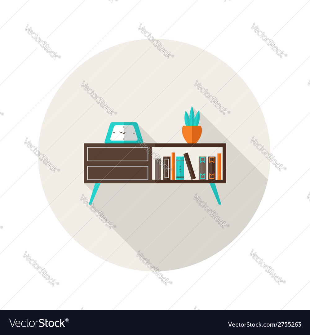 Chest of drawers flat icon vector | Price: 1 Credit (USD $1)