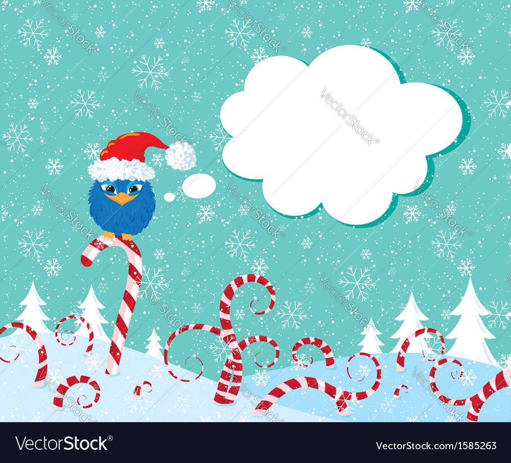 Christmass candy bird vector | Price: 1 Credit (USD $1)