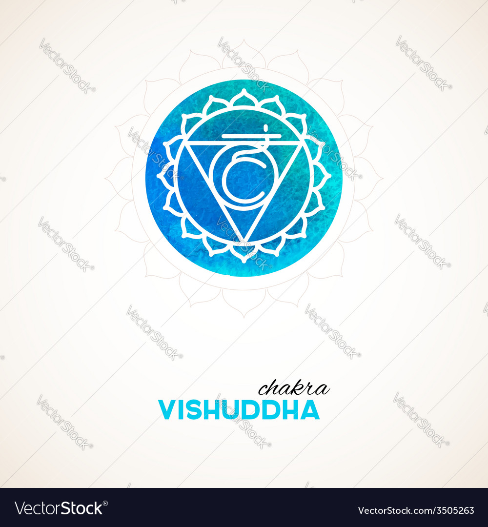 Color chakra watercolor design vector | Price: 1 Credit (USD $1)