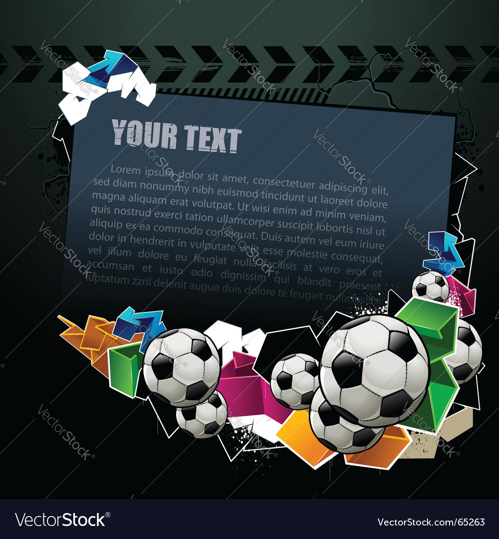 Football graffiti banner vector | Price: 1 Credit (USD $1)
