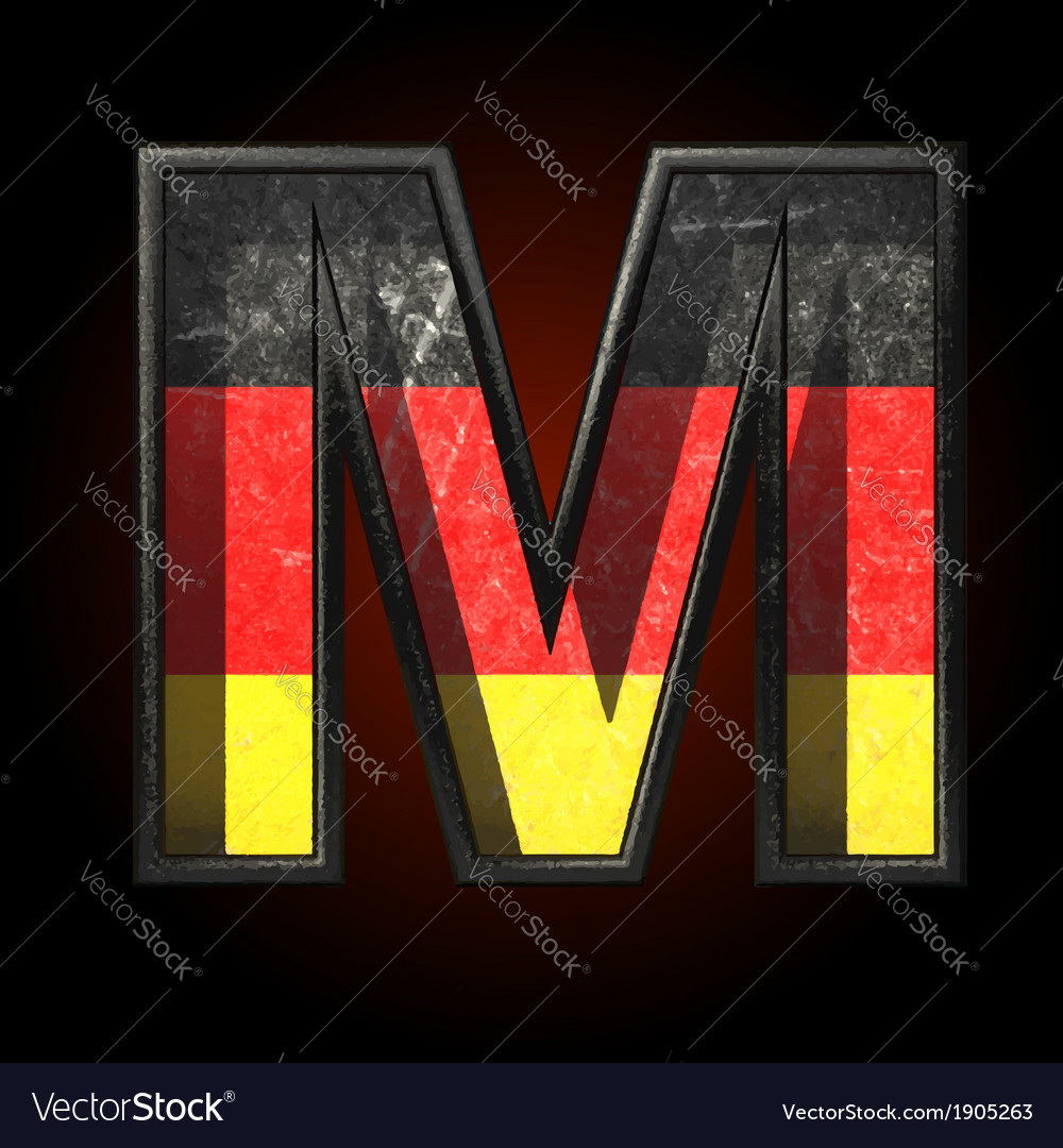Germany cutted figure m vector | Price: 1 Credit (USD $1)