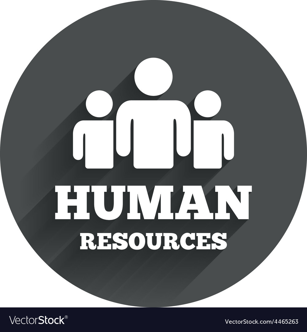 Human resources sign icon hr symbol vector | Price: 1 Credit (USD $1)