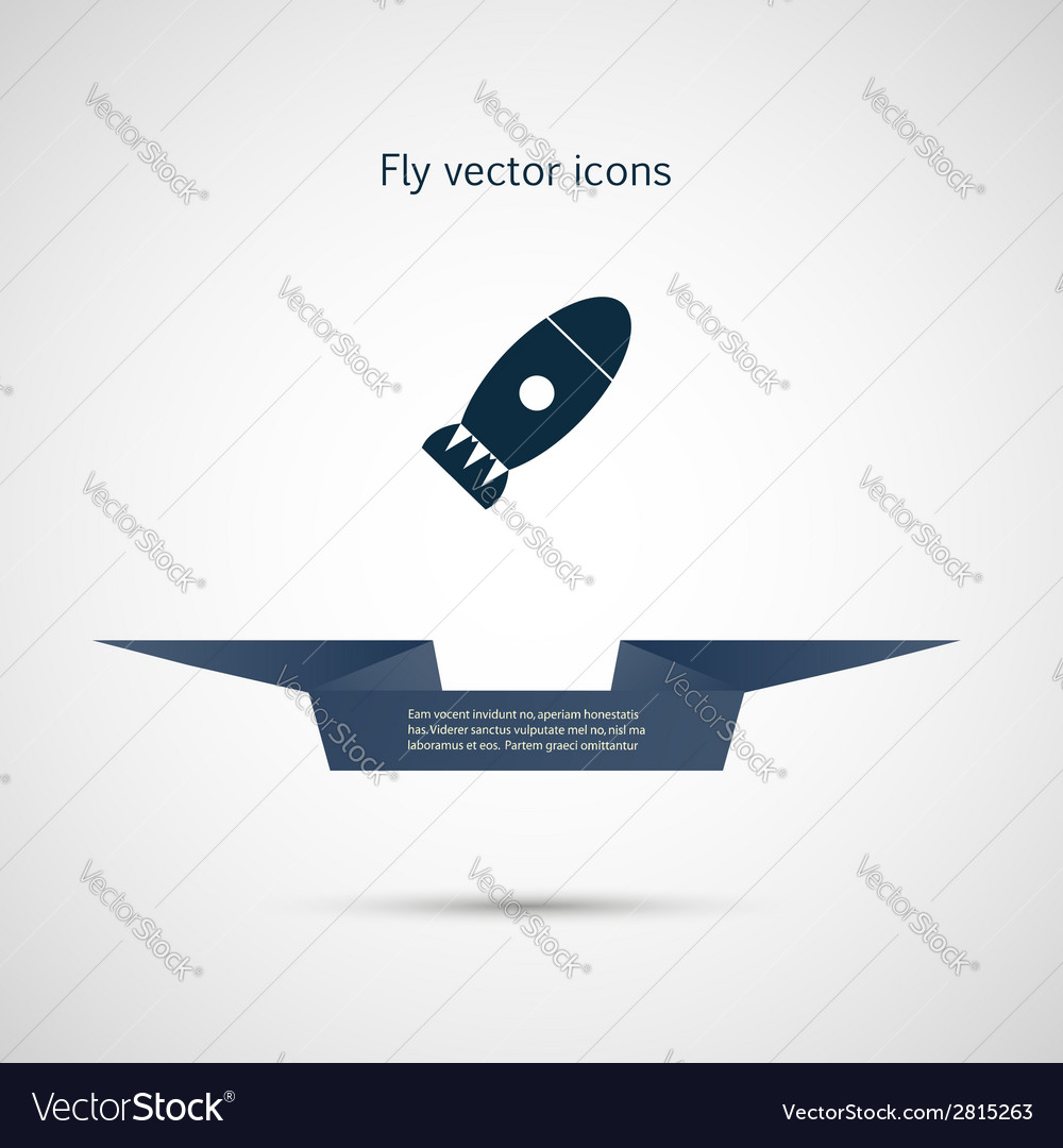 Icon flat bomb and ribbon for your text vector | Price: 1 Credit (USD $1)