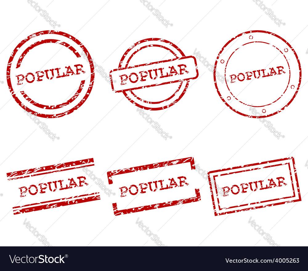 Popular stamps vector   Price: 1 Credit (USD $1)