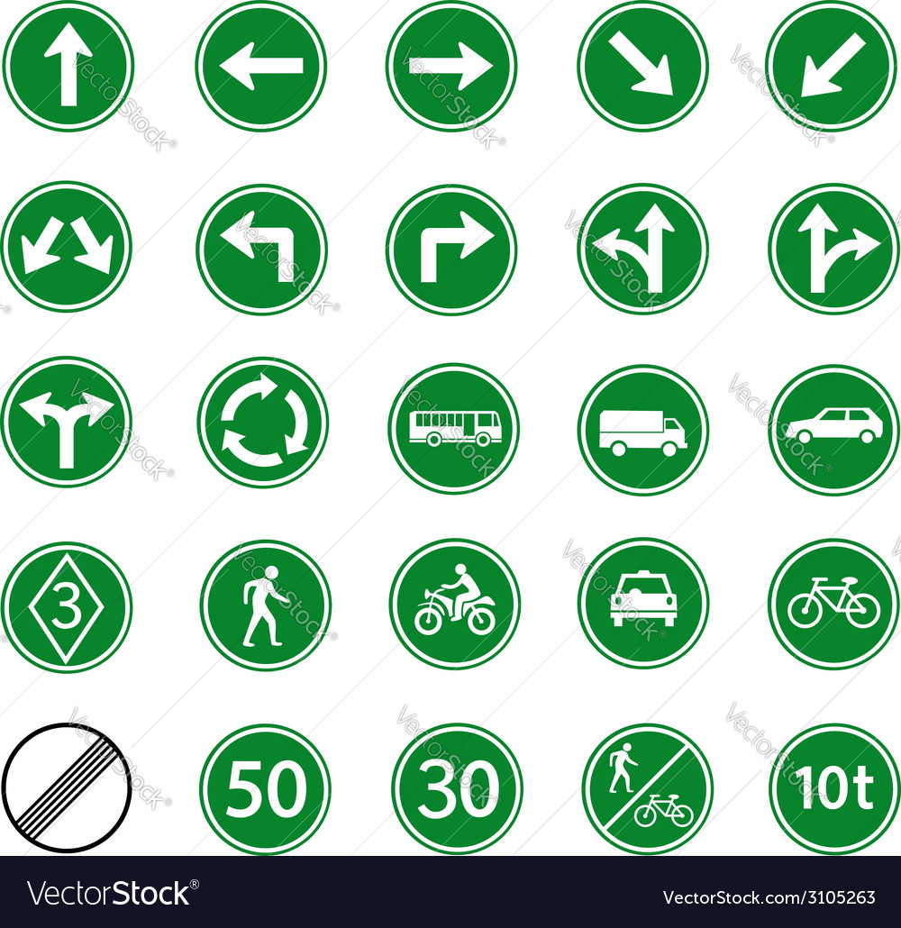 Regulatory sign green vector | Price: 1 Credit (USD $1)