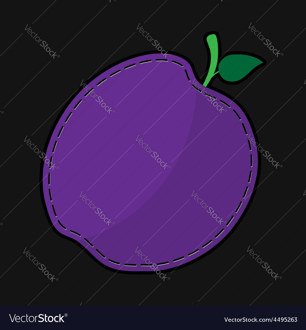 Seam violet plum with shadow vector | Price: 1 Credit (USD $1)
