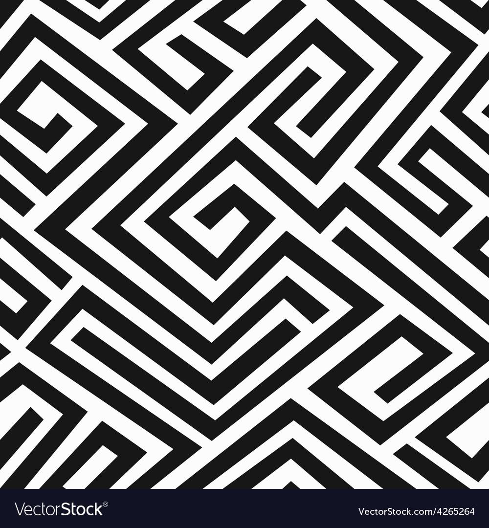 Black labyrinth seamless pattern vector | Price: 1 Credit (USD $1)