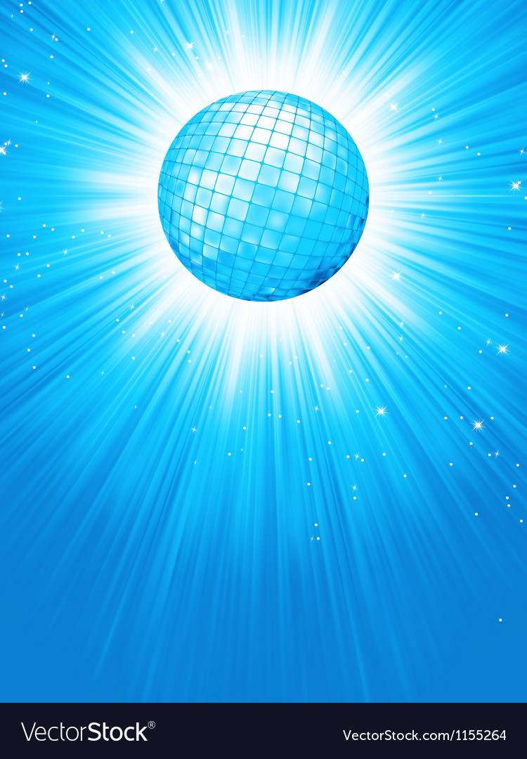 Blue disco rays with stars eps 8 vector | Price: 1 Credit (USD $1)