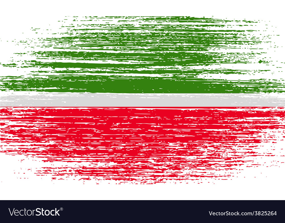 Flag of tatarstan with old texture vector | Price: 1 Credit (USD $1)
