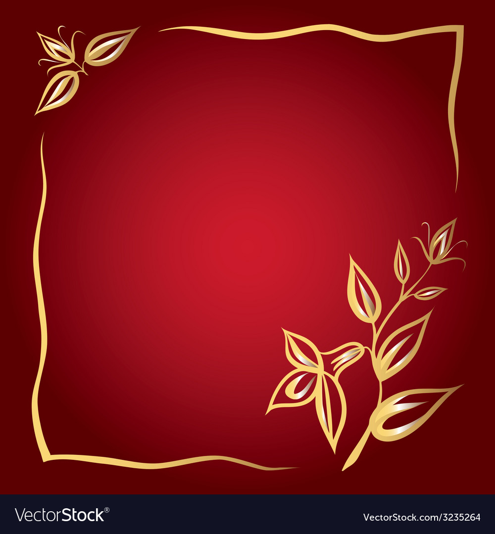 Flower frame card vector | Price: 1 Credit (USD $1)