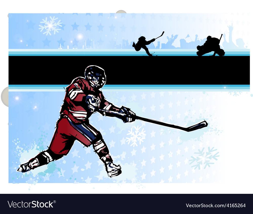 Ice hockey poster vector   Price: 3 Credit (USD $3)