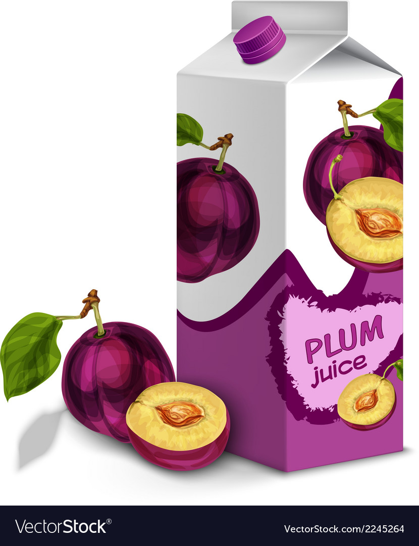 Juice pack plum vector | Price: 1 Credit (USD $1)