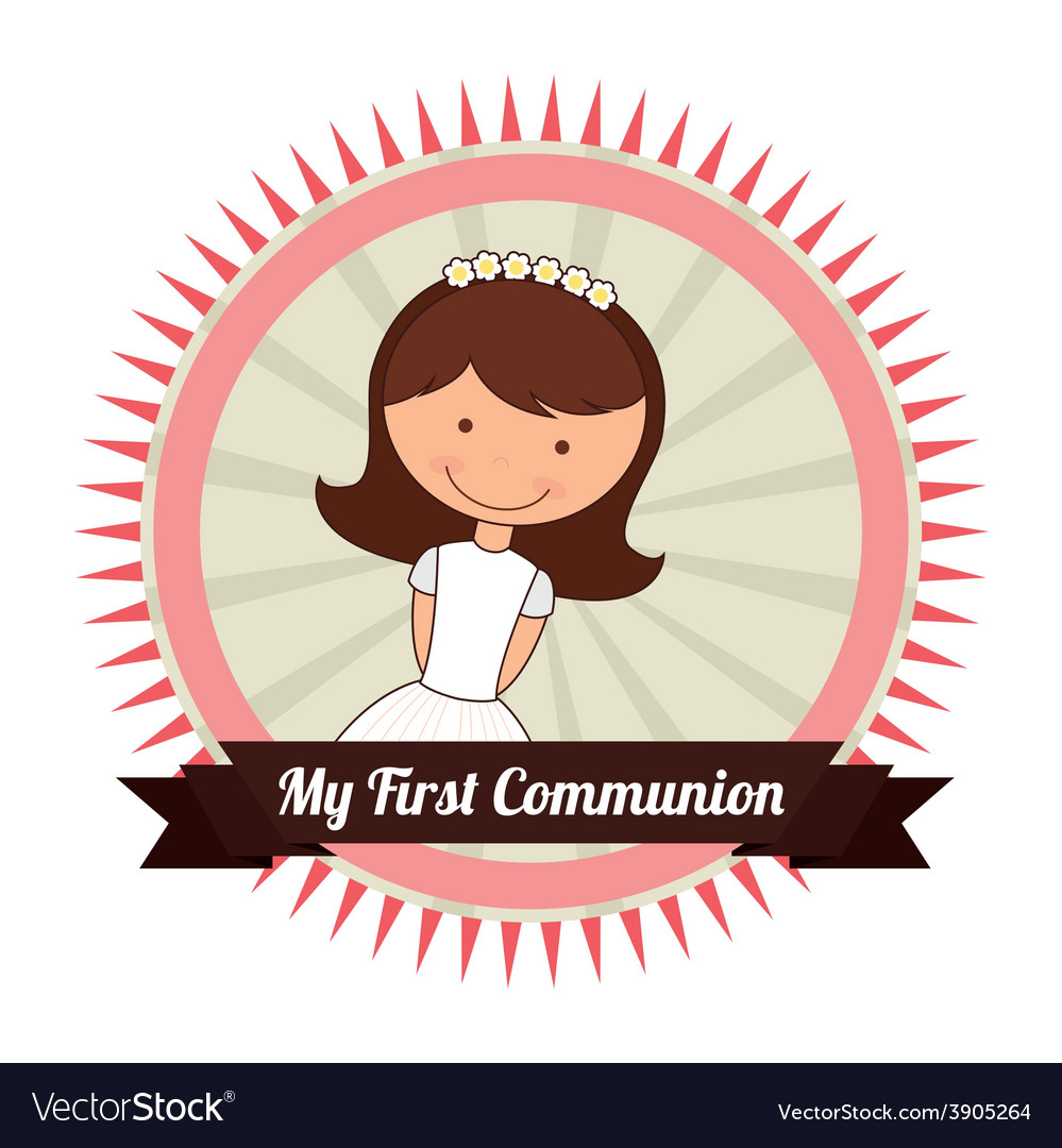 My first communion vector | Price: 3 Credit (USD $3)