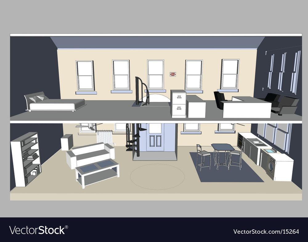 Office interior vector | Price: 5 Credit (USD $5)