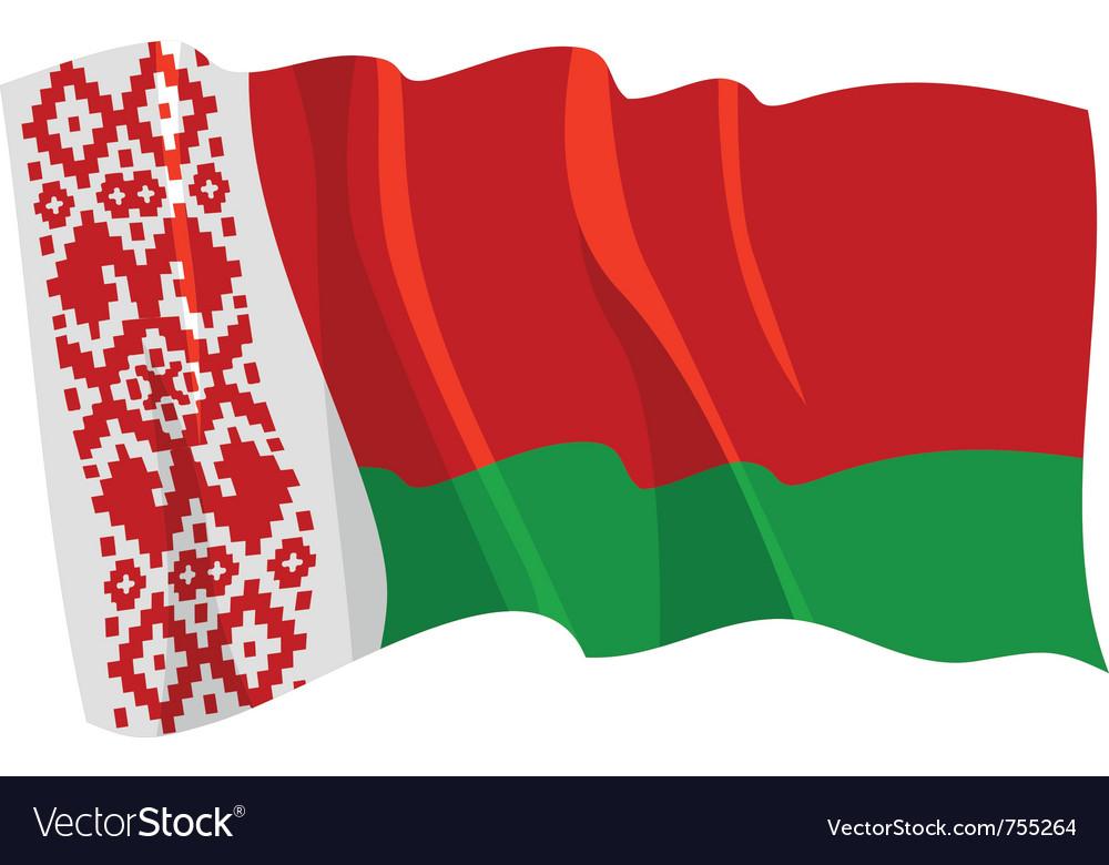 Political waving flag of belarus vector | Price: 1 Credit (USD $1)