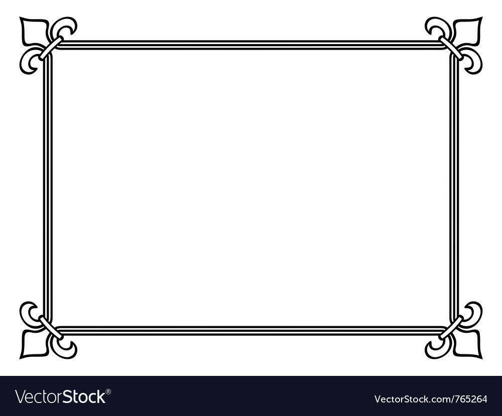Royal lily frame vector | Price: 1 Credit (USD $1)