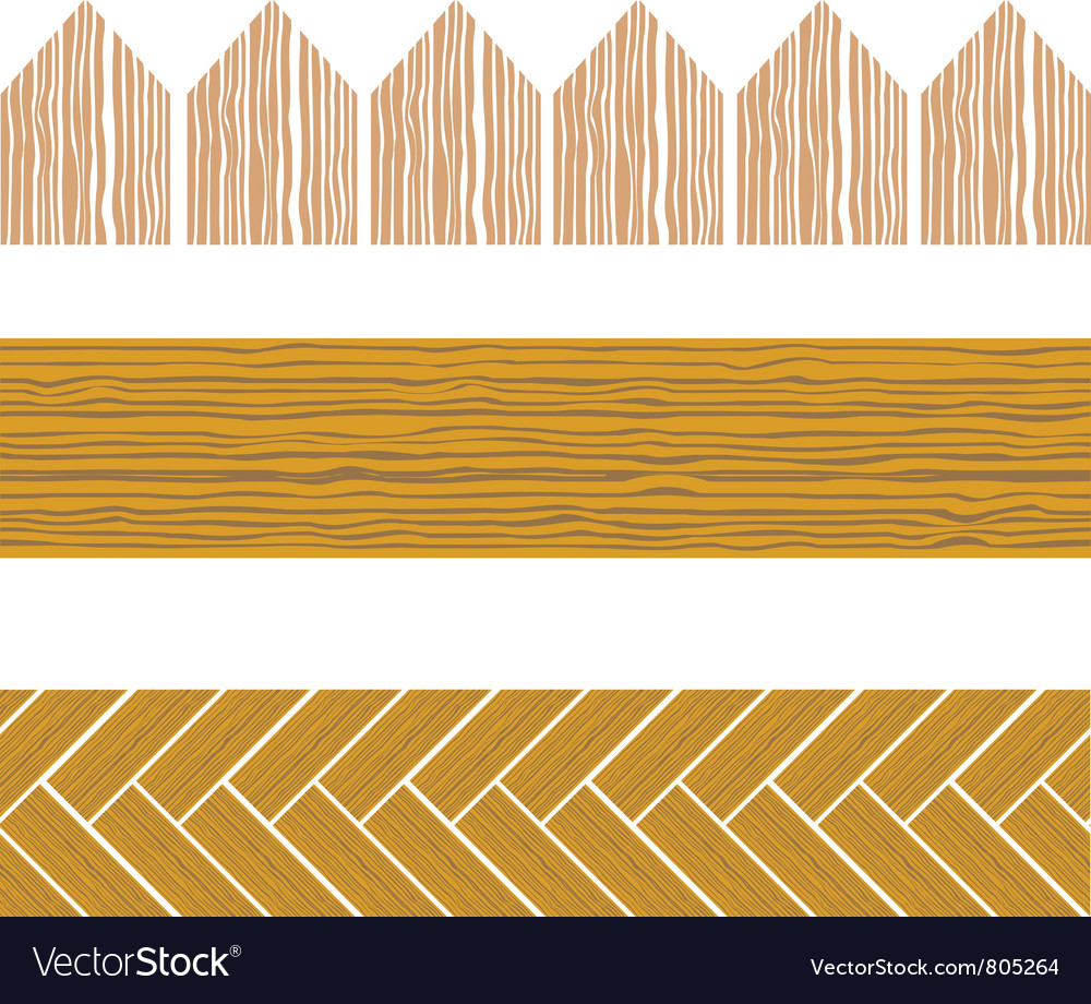 Seamless wood border vector | Price: 1 Credit (USD $1)