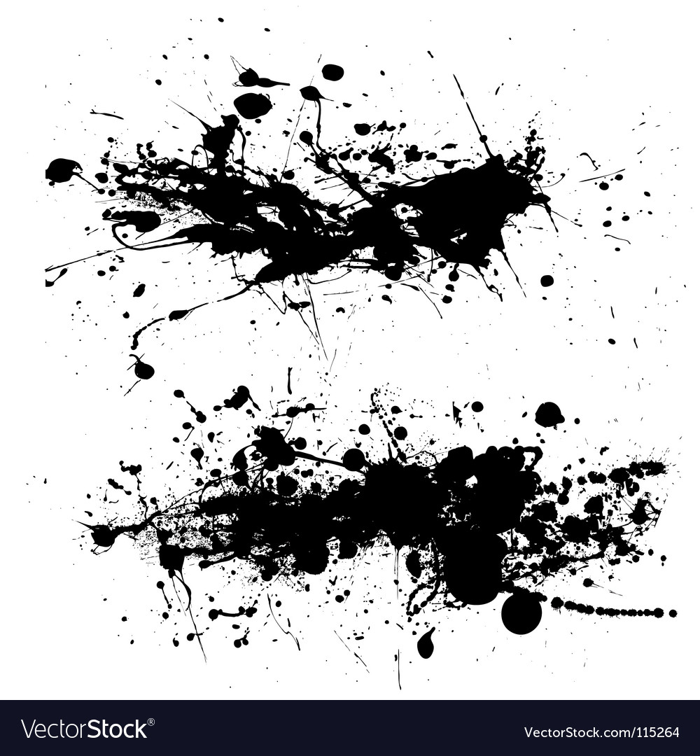 Splat dribble grunge vector | Price: 1 Credit (USD $1)