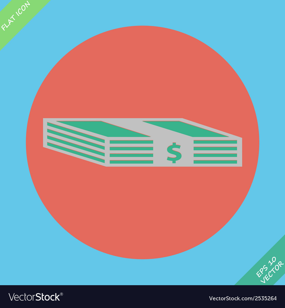 Web icon bundle of bank notes money hard cash vector | Price: 1 Credit (USD $1)
