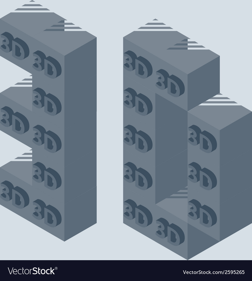 3d printer icon made with 3d cubes 3d printing vector | Price: 1 Credit (USD $1)