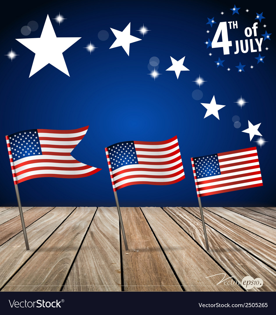 4th of july happy independence day united states vector | Price: 1 Credit (USD $1)