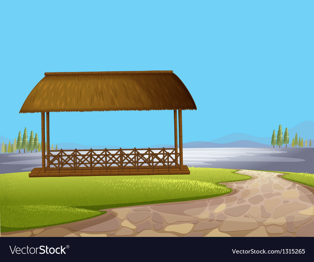 A native cottage at the street vector | Price: 1 Credit (USD $1)